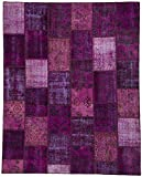 Homemusthaves Purple Super Soft Modern Shag Shaggy Modern Contemporary Area Rugs Living Room Carpet Bedroom Rug Home Decorator Floor Rug and Carpets Hand Carved (5x8 Feet)
