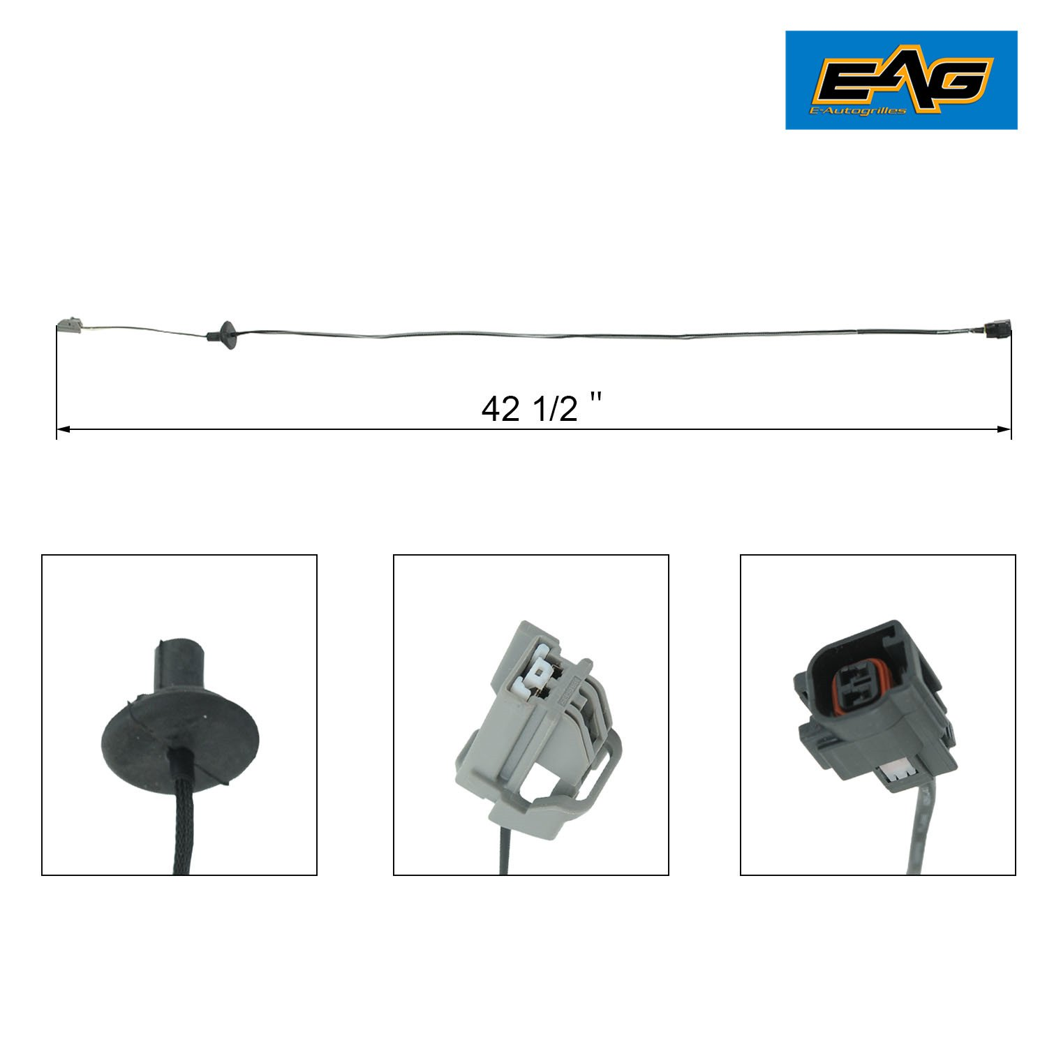 "Amazon.com: EAG 07-18 Jeep Wrangler JK 42.5"" Third Brake Light Extension  Wire Harness - Single: Automotive"