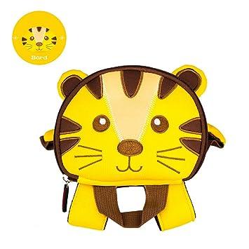 AHWZ Mochila para niños, Linda Mochila de Dibujos Animados, Bolso de niño, Mochila pequeña con Anti-Lost Reins,Tiger: Amazon.es: Deportes y aire libre