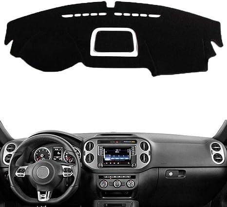JIRENSHU Car Dashboard Cover Mat Dashmat Pad Anti-UV Parasole Pannello Strumenti Tappeto Accessori Auto per Volkswagen VW Tiguan 2009-2015