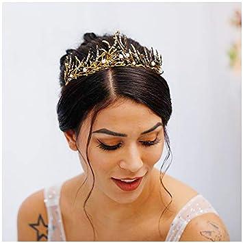 Halloween Evil Queen Style Gold Crown Headpiece
