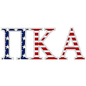 Amazon pi kappa alpha pike american flag greek letter sticker pi kappa alpha pike american flag greek letter sticker 25quot voltagebd Gallery