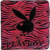 Playboy - Classic Bunny Pink Zebra Stripes Queen Blanket