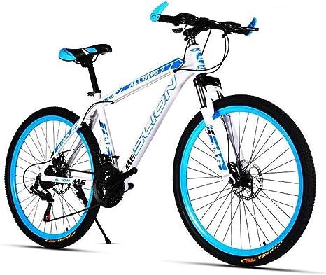 JLASD Bicicleta Montaña Bicicleta de montaña, Bicicletas de 26 Pulgadas Unisex Duro-Cola, 17 Pulgadas Marco de Acero al Carbono, de Doble Disco de Freno Delantero Suspensión: Amazon.es: Deportes y aire libre