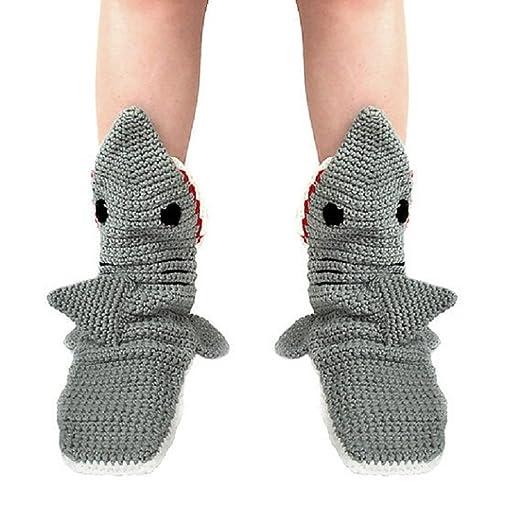 Ruanyu Adult Animal Cartoon Shark Floor Socks Home Funny Socks