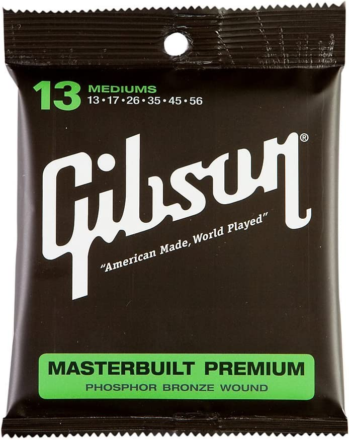 Gear SAG-MB13 - Cuerdas de bronce para guitarra acústica Gibson Masterbuilt Premium Phosphor .013-.056
