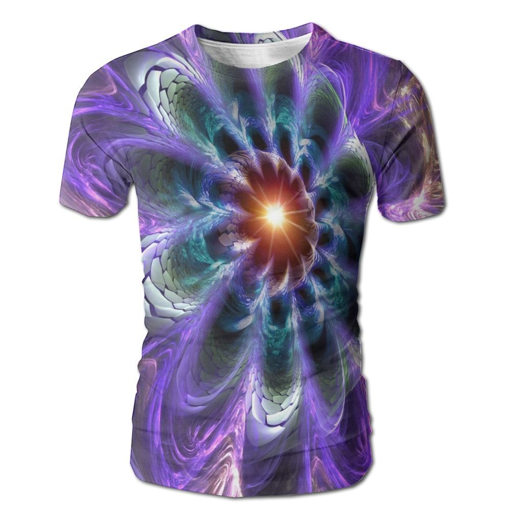 XIA WUEY Neon Peacock Feather AdultCrew Neck Baseball Tshirt Graphic Tees Tops For Cycling