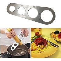 Medidor de espaguetis de pasta de acero inoxidable, herramienta de cocina