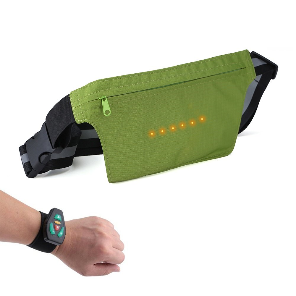 FJY Gürteltasche Bauchtasche Hüfttasche Geeignet für Radfahren Running, Sport & Alle Outdoor Aktivitäten mit Blinker Licht, Hüfttasche für Damen und Herren