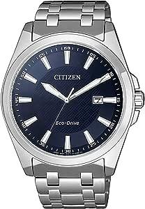 Citizen Reloj Analógico para Hombre de Cuarzo con Correa en Acero Inoxidable BM7108-81L