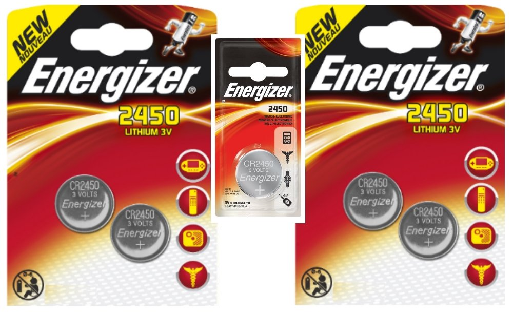 5 x CR2450 2450 Energizer 3 V batterie al litio Energizer Batteries