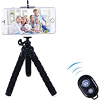 Mobile Phone Tripod, Flexible Mini Stand with Wireless Bluetooth Remote Shutter