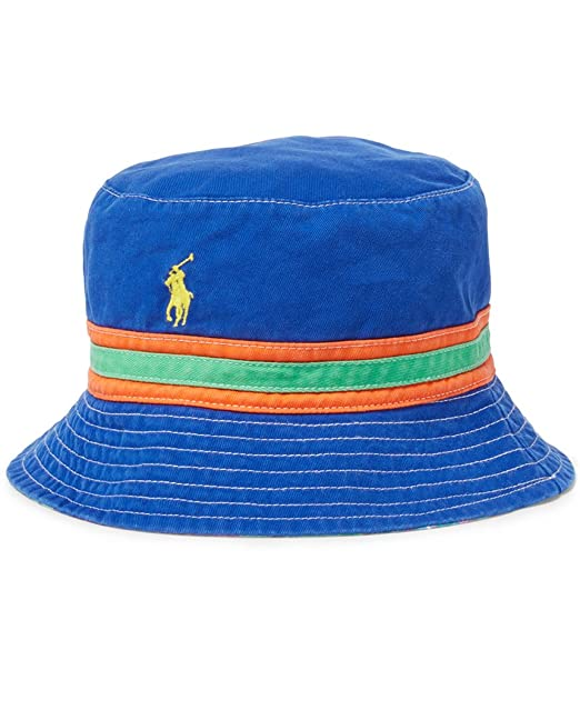 12a8708488d Ralph Lauren Polo Mens Tropical Reversible Bucket Hat - -  Amazon.co.uk   Clothing