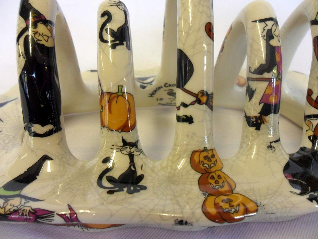 witches toast rack by Heron Cross Pottery
