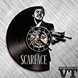 Scarface Tony Montana Vinyl Record Wall Clock Fan Art Handmade Decor Original Gift Unique Decorative Vinyl Clock 12' (30 cm)
