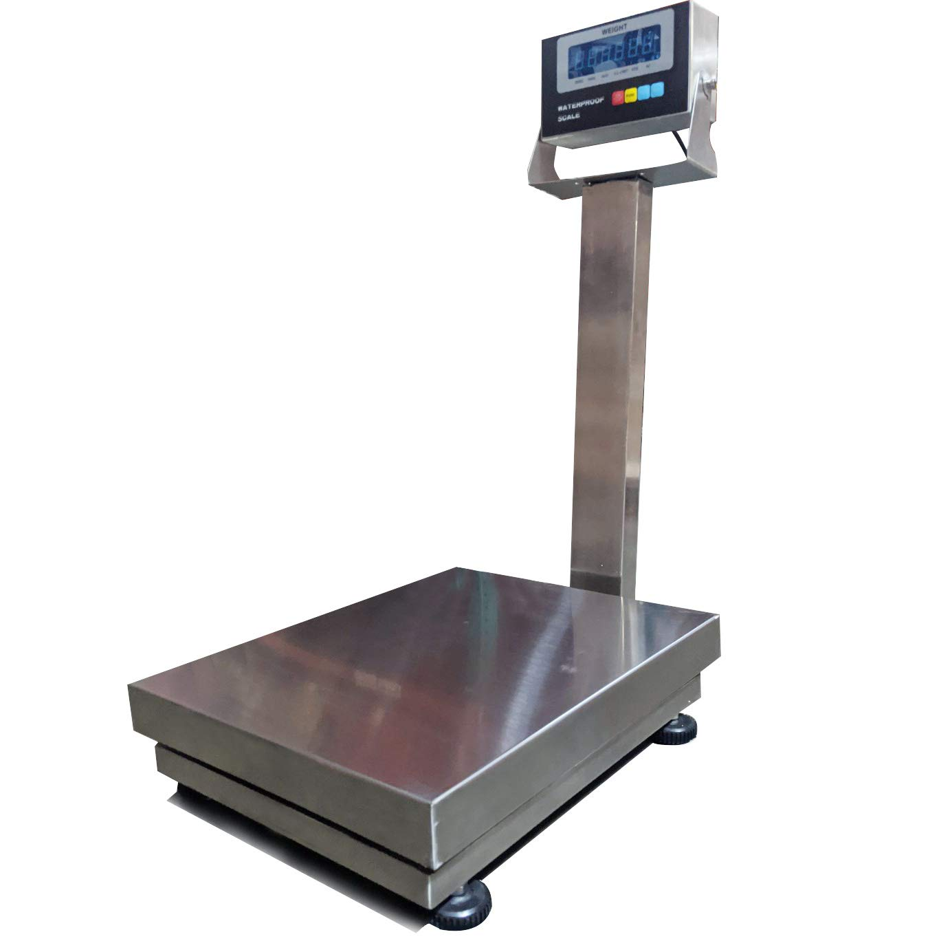 "PEC Scales Stainless Steel Bench Scale, Waterproof Digital Scale/Postal Scale/Shipping Scale/Medical Scale/Animal Check-Weigher, 600×0.02lb Capacity (16""x 20"")"