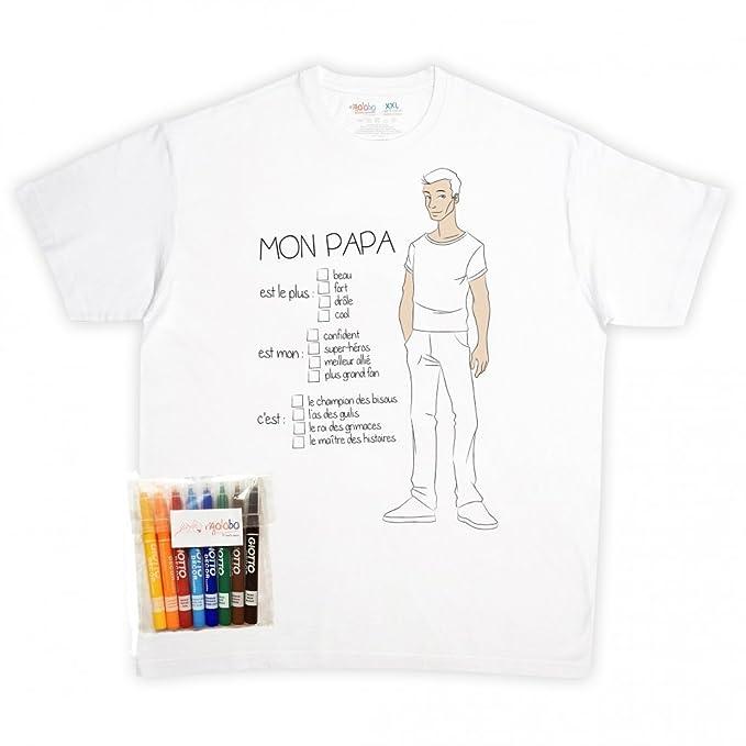 rigolobo Camiseta para Papa de para colorear: Amazon.es: Ropa y ...