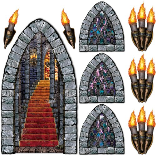 Stairway, Window & Torch Props Party Accessory (1 count) -