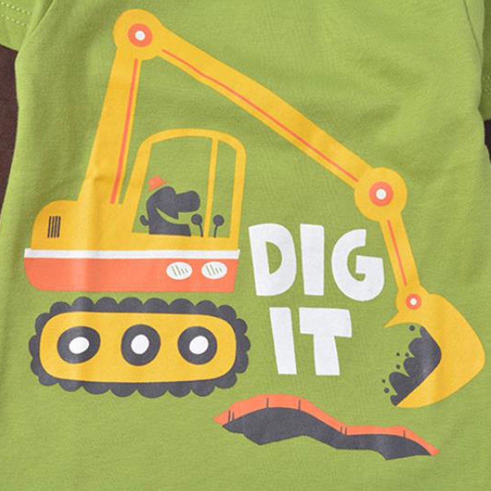 Motteecity Fashion Boys Patchwork Cartoon Fall T-Shirt