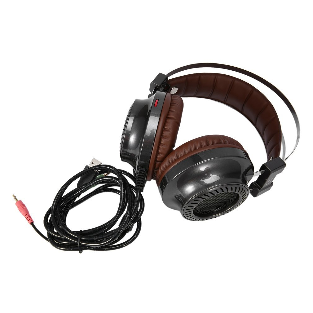 Qulable Fashion Cool Steel Series Fidelity Speakers Stereo V2 Gaming PC Light Headset