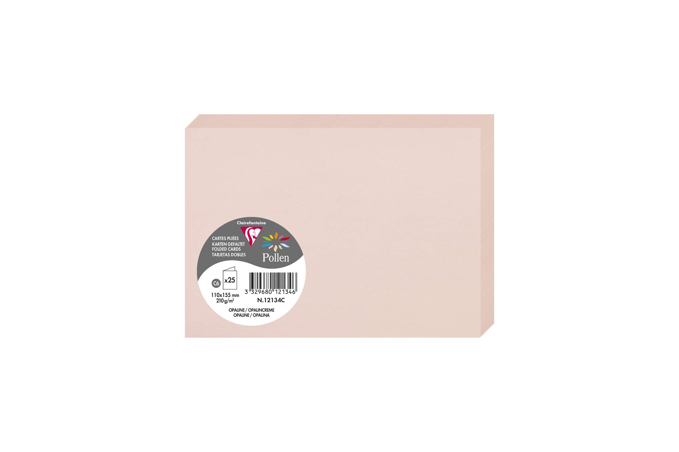 Clairefontaine 2336°C Pack of 25 Cards11x 15.50X 0.10cm 11 x 15.50 x 0.10 Opaline