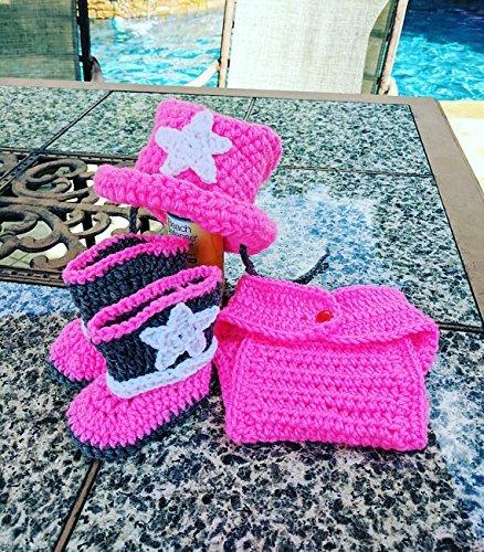 Crochet Newborn Cowgirl Outfit, Baby Photo Props, Newborn Halloween Costume, Size Newborn, 0-3M, 3-6M, 6-12M