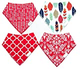 Set of Baby Bibs from Bearcub - Organic Cotton - FREE Ultra Soft Baby Washcloth Included