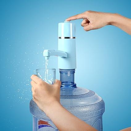 Dispensador de Bomba de Agua Recargable Dispensador Inalámbrico Eléctrico USB para Hogar y Oficina (Azul