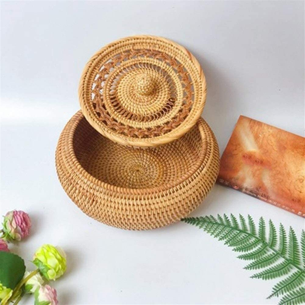 Auart YiLei-LL brotk/örbchen Gastronomie Color : Brown Reiner Handbrotkorb Rattan Obstkorb Speicherkorb Hotel Creative-Frucht-Platte Lebensmittelaufbewahrung