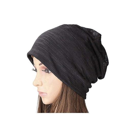 60cc2626d6ed6e SUOSDEY Women's Cotton Beanie Lightweight Turban Slouchy Beanie Hat ...