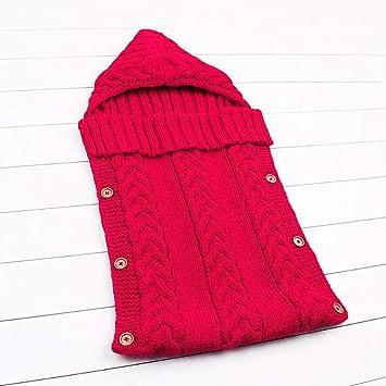 Recién Nacido Color Sólido Saco De Dormir Manta Envuelto Bebé Caliente Lindo Saco De Dormir Tamaño