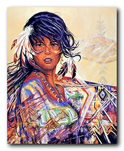 African American Indian Maiden Native American Wall Decor Art Print Poster (16x20)