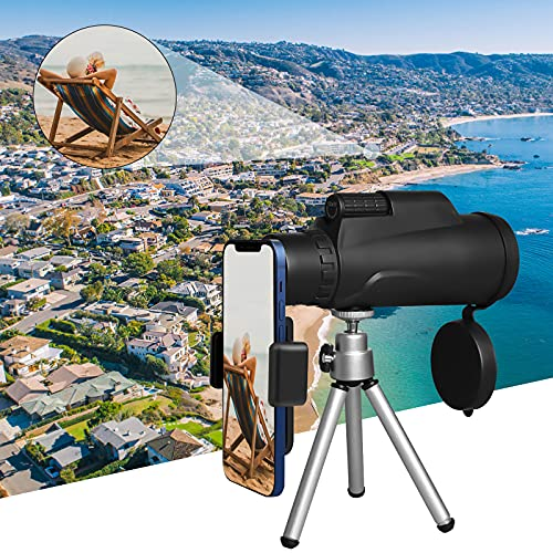 Starscope Monokular 12x50 HD Monoculars Teleskop mit Halterung, Stativ&Handschlaufe - Wasserdicht, Beschlagfrei, Robust und Helle für Vogelbeobachtung, Wandern, Jagd, Sightseeing, Ballspiele