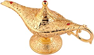 Usany Legend Aladdin Magic Genie Light Lamp Pot Classic Silver-Tin alloy