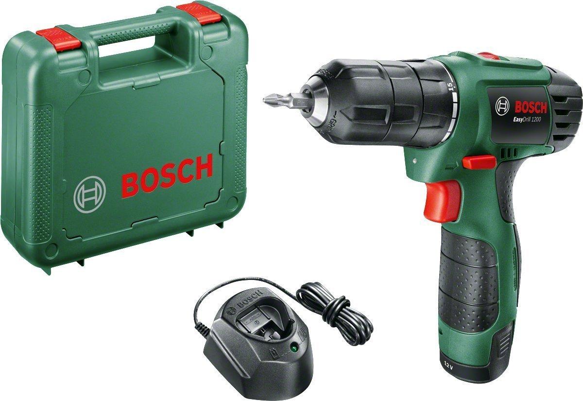 Bosch easydrill 1200 noir, vert –  Perceuse Perceuse de pistolet, Perforacion, desatornillar, noir, vert, 6 mm, 2 cm, 6 mm) vert-Perceuse Perceuse de pistolet 6mm 2cm 6mm) 06039A210A