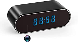 Spy Camera, Hidden Camera Clock 1080P WiFi Video Recorder 140° Wide Angle Lens Wireless IP Cameras for Indoor Home Security Monitoring Nanny Cam with Night Vision Motion Detection 2020 Version
