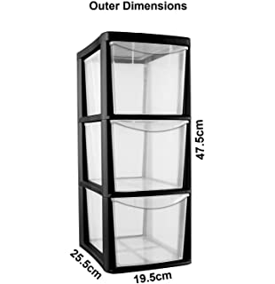 Plastic Storage Drawers on wheels heavy duty Black storage