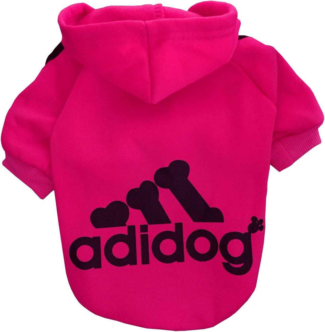 Rdc Pet Adidog Ropa para Perros Sudaderas con Capucha para Perros Suéter cálido de Lana Chaqueta de algodón Camisa Abrigo para Perro pequeño Gato (Carmín,M): Amazon.es: Productos para mascotas