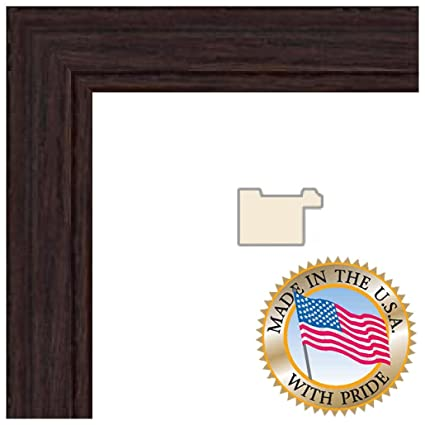 9x18 Walnut Stain on Red Oak Picture Frame - 1.25\'\' wide with ...