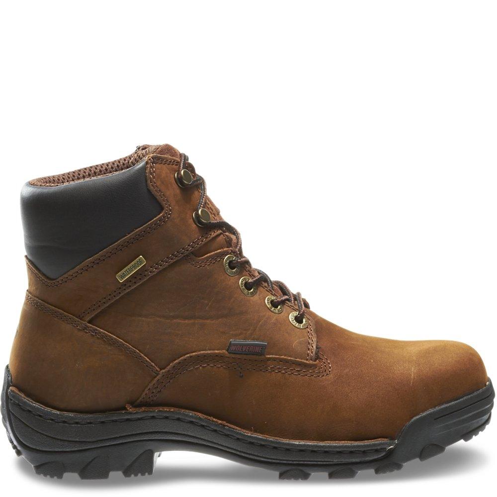 846464239e1 Wolverine Men's Durbin Waterproof Steel- Toe Brown Boots
