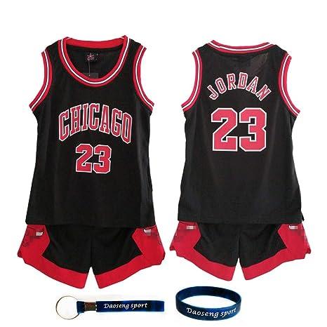 Michael Uniforme D'été Garçon Short Nba Daoseng Maillots Jordan23 Ball Chicago Enfant Basket Topamp; Retro Shorts Bulls De O0nPwk