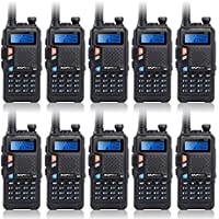 Baofeng New Version UV-5X Dual Band UHF VHF Radio Transceiver Waterproof Two Way Radio 10 Pcs