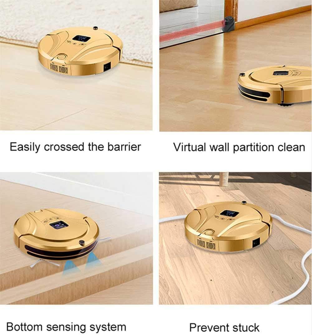 Aspirateur Robot, App Contrôle Anti Collision Capteur Recharge Automatique Forte Aspiration Aspirateur Robot Avec Vadrouille, Rose Schwarz