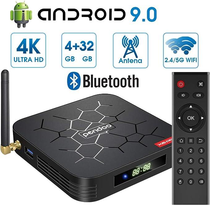 Android 9.0 TV Box 【4GB RAM+32GB ROM】 Android TV Box, Dual-WiFi ...