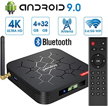Android 9.0 TV Box 【4GB RAM+32GB ROM】 Android TV Box, Dual-WiFi 2.4GHz /