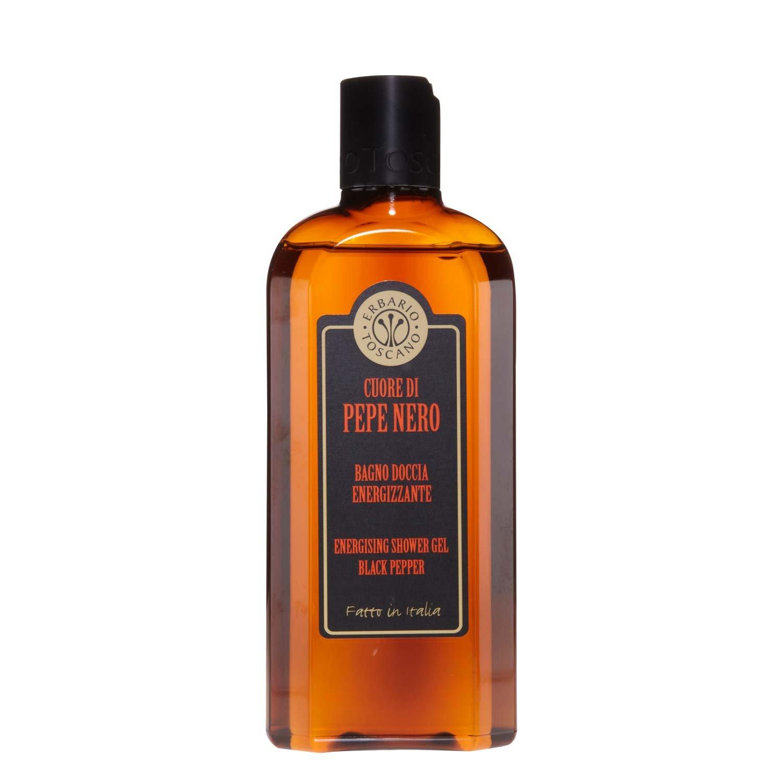 Erbario Toscano Cuore di Pepe Nero Bagno Doccia 250ml - Energizzante - Deterge senza aggredire la pelle. PSD25P