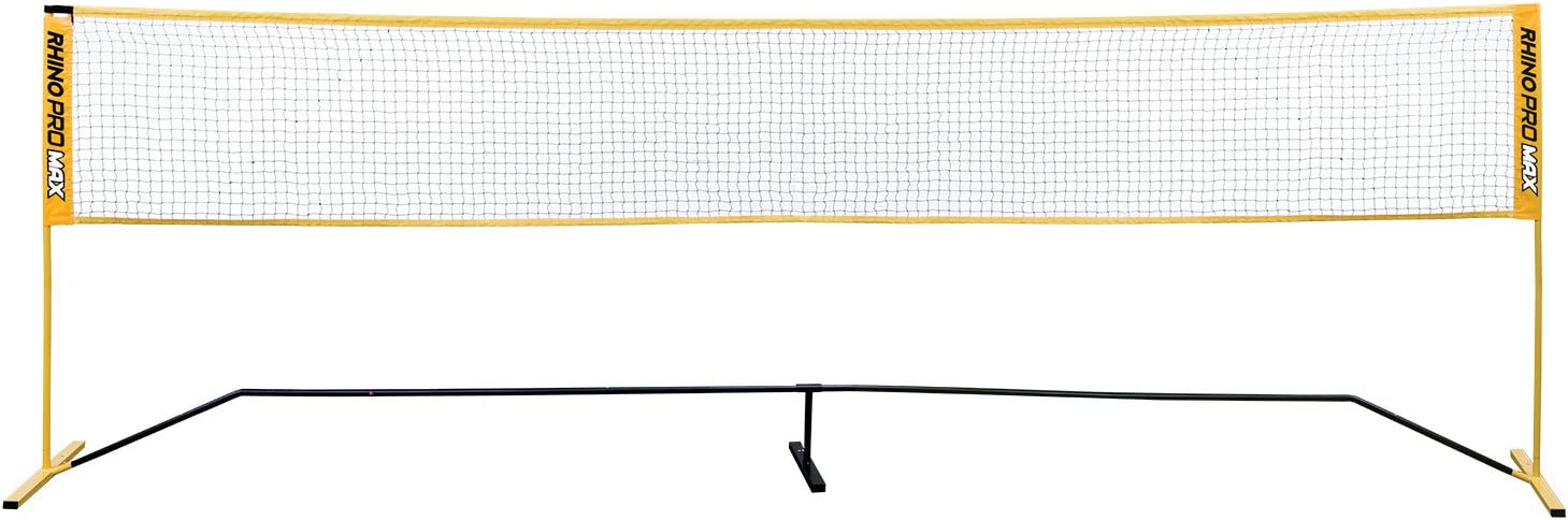 Champion Sports Portable Volleyball Net: Adjustable 18 Foot Racquet Sport, Tennis, Badminton, and Game Net - Yellow : Sports & Outdoors