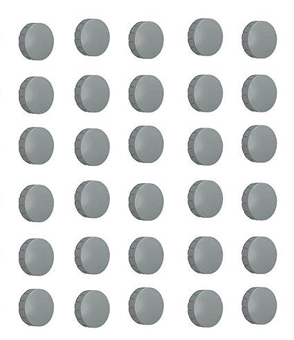 MAUL Imanes (Gris, 24 mm de diámetro, Antiadherente Imanes ...