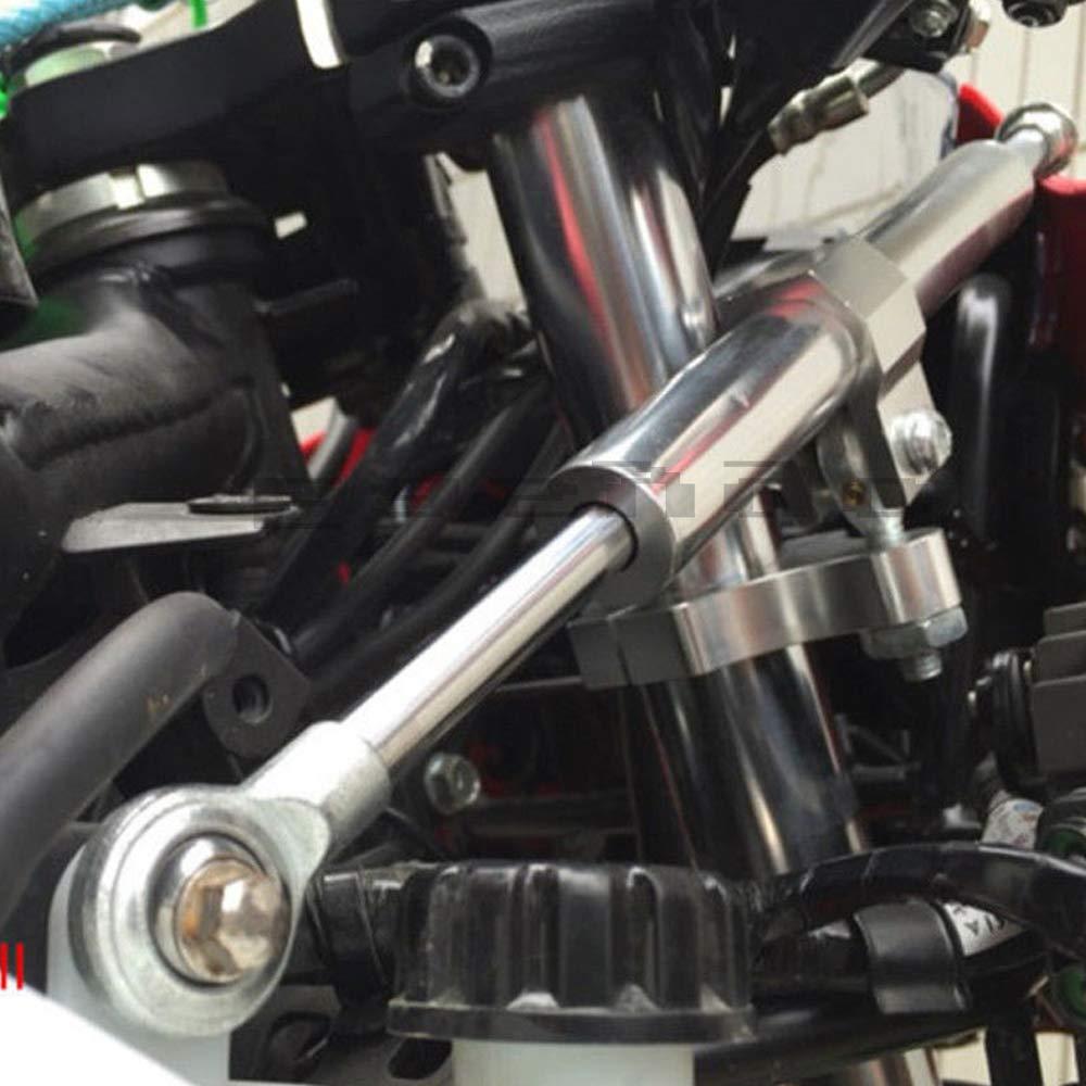 330mm CNC direcci/ón Amortiguador estabilizador de la Motocicleta Control de Seguridad invertido Lineal para Honda Yamaha Suzuki Kawasaki Negro