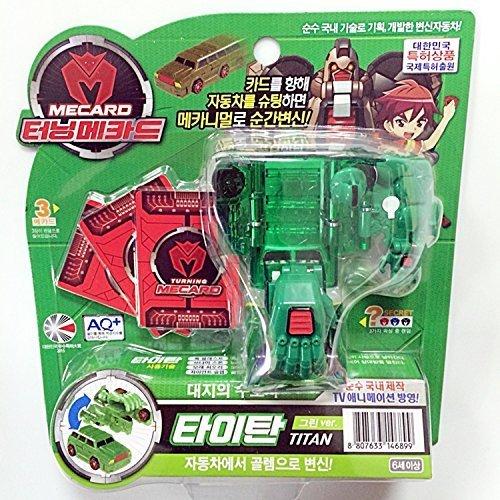 Turning Mecard Titan Green Transform Car - Korean Made TV Kids Animation Toy